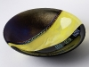 black yellow bowl