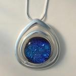 McCann Melissa Blue Dichro in silver finding