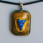 gold with blue heart etsy pendant