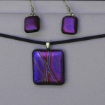 pendant earrings geometric purple